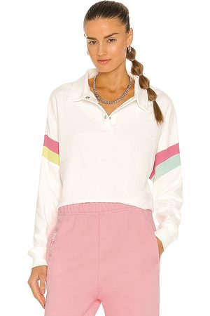 Wildfox Couture Women Polo Shirts - Candy Stripe Miami Polo Top in . Size XS, S, M.