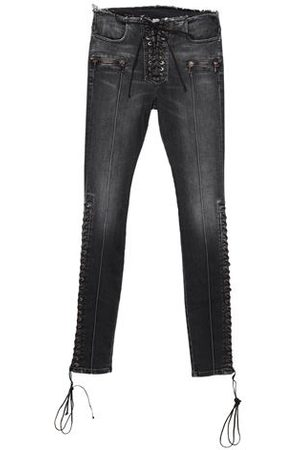 BEN TAVERNITI™ UNRAVEL PROJECT Women Trousers - DENIM - Denim trousers