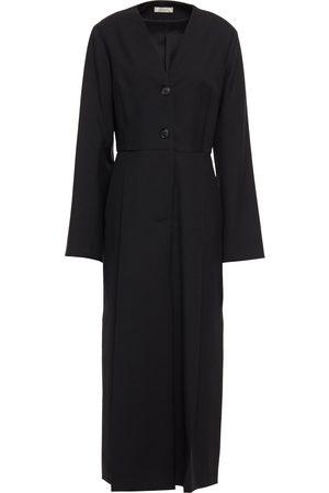 NINA RICCI Woman Pleated Wool-twill Midi Dress Size 34