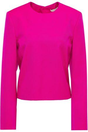 NINA RICCI Women Tops - Woman Open-back Wool-twill Top Bright Size 34
