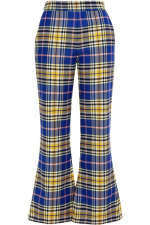 VIVETTA Woman Checked Twill Flared Pants Bright Size 38