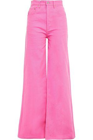 SOLACE LONDON Woman High-rise Wide-leg Jeans Size 6