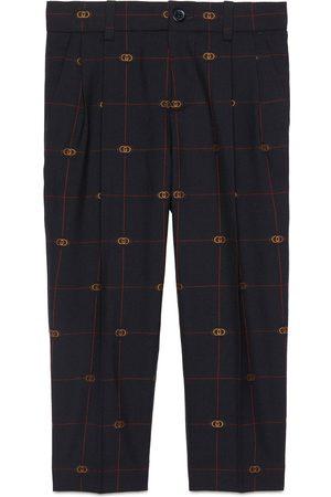 Gucci Children's Interlocking G wool trousers