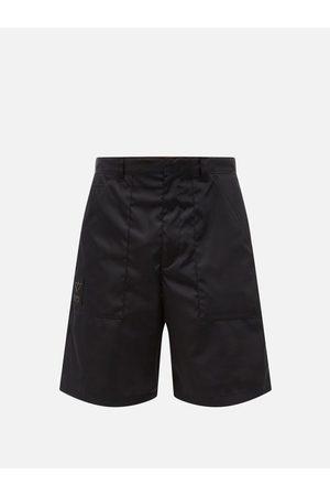 Prada Men Shorts - Triangle Logo-plaque Re-nylon Cargo Shorts - Mens