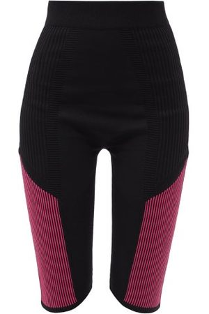 Moncler Ribbed-panel Technical-jersey Cycling Shorts - Womens
