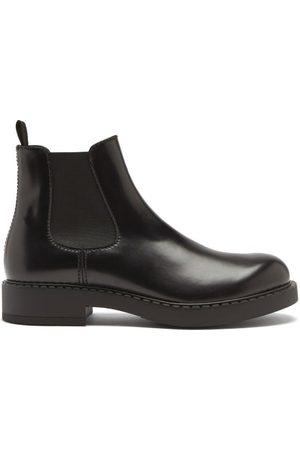 Prada Round-toe Leather Chelsea Boots - Mens