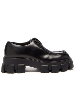 Prada Monolith Chunky-sole Leather Derby Shoes - Mens