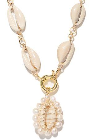 Eliou Éliou - Gaia Pearl, Shell & -plated Necklace - Mens - Multi