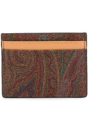 ETRO Men Purses & Wallets - Paisley print cardholder