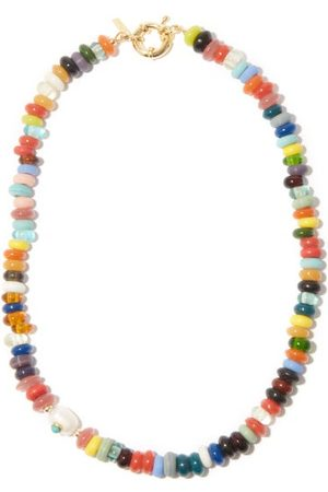 Eliou Éliou - Beaded & Baroque-pearl Gold-plated Necklace - Mens - Multi