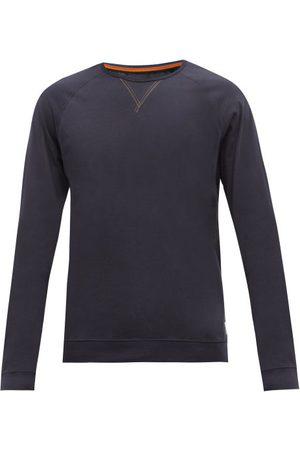 Paul Smith Men Long Sleeve - Y-insert Cotton-jersey Long-sleeved T-shirt - Mens - Navy