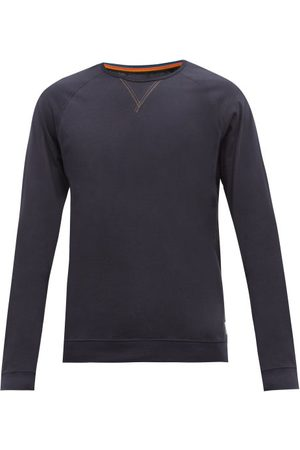 Paul Smith Y-insert Cotton-jersey Long-sleeved T-shirt - Mens - Navy