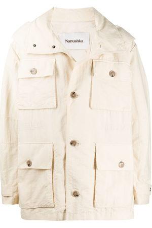 Nanushka Bart hooded rain jacket - Neutrals