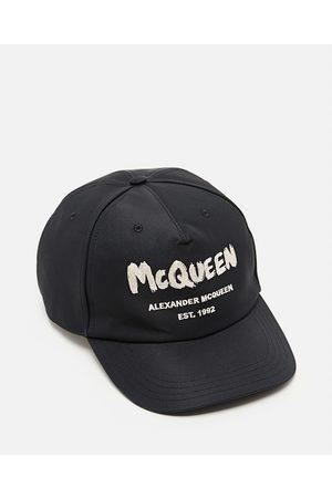 Alexander McQueen GRAFFITI POLYESTER BASEBALL HAT size L