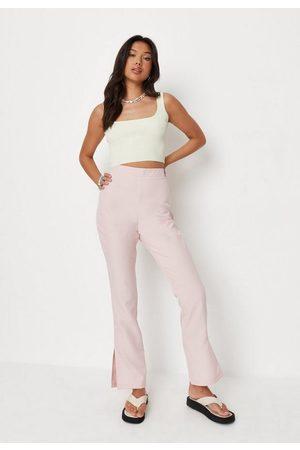 Missguided Outside Split Hem Slim Leg Trousers