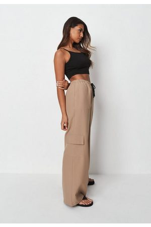 Missguided Camel Loose Cargo Trousers, Camel