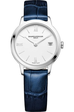 Baume & Mercier Mens M0A10353 My Classima Stainless Steel And Crocodile Leather Watch