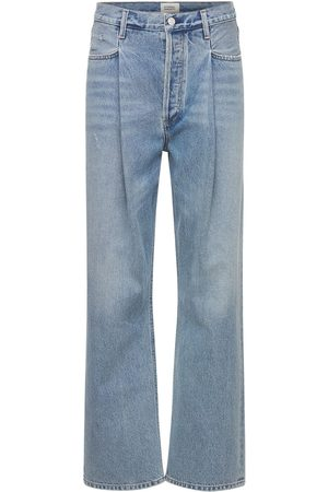 Citizens of Humanity Women Jeans - Franca Pleated High Rise Denim Jeans