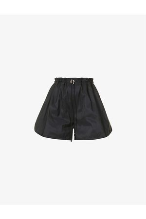 alexander mcqueen Exploded high-rise shell shorts