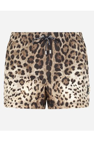 Dolce & Gabbana Collection - Short leopard-print swim trunks with plate male 3