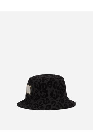 Dolce & Gabbana Hats and Gloves - Bucket hat with flocked leopard print male 58