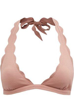 Marysia Spring Scalloped-edge Halterneck Bikini Top - Womens