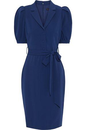 BADGLEY MISCHKA Women Dresses - Woman Belted Crepe Dress Navy Size 0