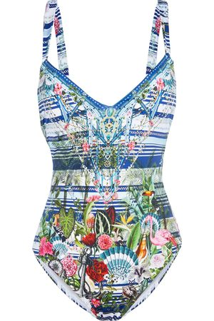CAMILLA Woman Solishea Crystal-embellished Printed Swimsuit Multicolor Size L
