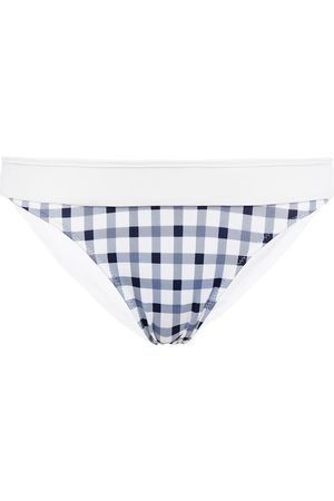 HEIDI KLEIN Woman Bb Reversible Striped Mid-rise Bikini Briefs Navy Size L