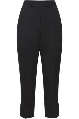 SAPIO Wool Tailored Crop Straight Leg Pants