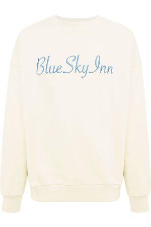 BLUE SKY INN Men Sweatshirts - Logo Cotton Crewneck Sweatshirt