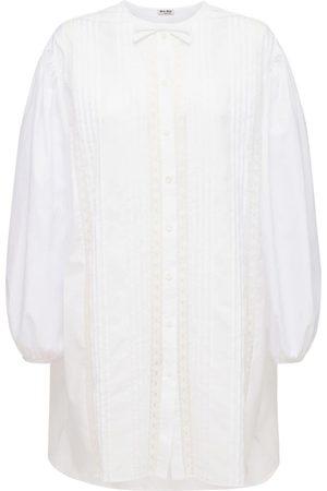 Miu Miu Cotton Poplin Long Shirt Dress