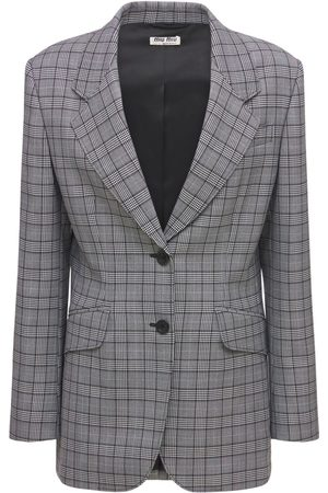 Miu Miu Prince Of Wales Wool Jacket
