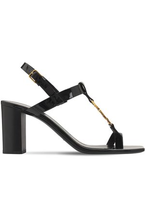 Saint Laurent 75mm Cassandra Patent Leather Sandals