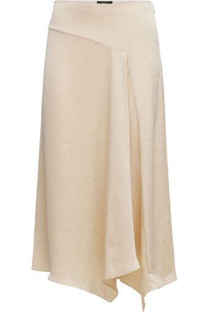 THEORY Women Midi Skirts - Asymmetric Satin Midi Skirt