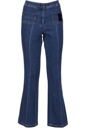 Giambattista Valli Mid Rise Flared Denim Jeans