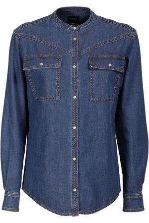 Giambattista Valli Women Shirts - Cotton Denim Shirt