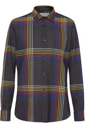 SAINT LAURENT Check Fitted Wool Shirt