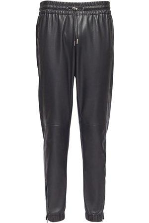 Saint Laurent Leather Jogging Pants
