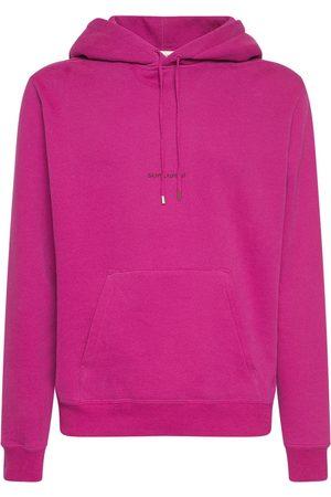 Saint Laurent Logo Cotton Sweatshirt Hoodie