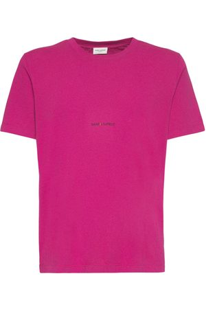 Saint Laurent Logo Cotton T-shirt