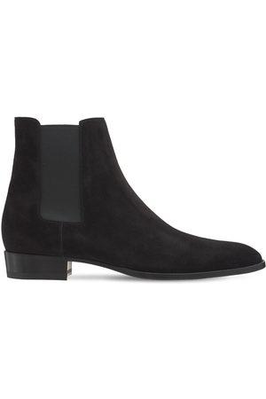 Saint Laurent Men Boots - Mid Heel Leather Boots
