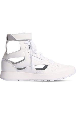 Maison Margiela 20mm Reebok Leather High-top Sneakers