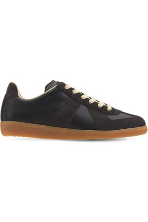 MAISON MARGIELA Women Trainers - 20mm Replica Leather & Suede Sneakers