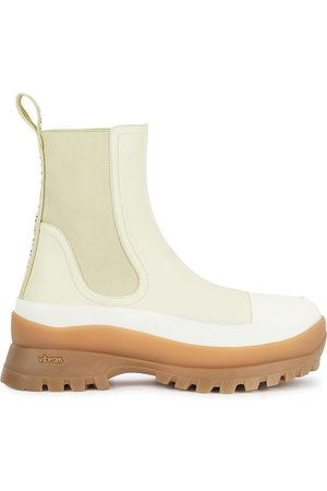Stella McCartney Women Ankle Boots - Trace 40 Cream Faux Leather Chelsea Boots