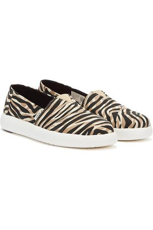 TOMS Alpargata Mallow Womens Natural Liger Print Shoes