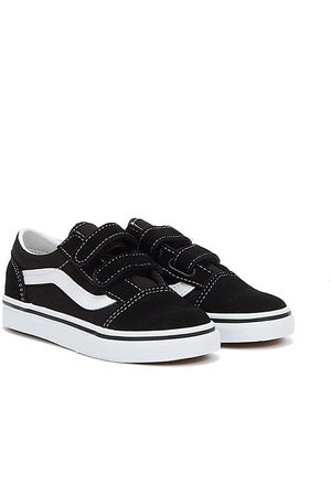 Vans Women Trainers - Old Skool V Toddlers White Trainers