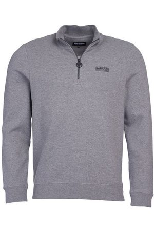 Men Sweatshirts - Barbour International Essential Half Zip Sweatshirt Anthracite