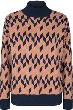 Numph Pre-Order - Ash Rose Geometric Sweater