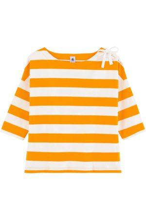 Petit Bateau Women's Stripe Top With Bow